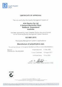 ISO2015 Certificate.MEL4000260.ASA